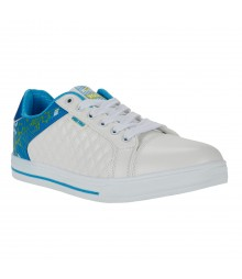 Vostro White Blue Casual Shoes for Men - VSS0163
